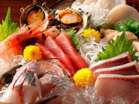 鮮魚お刺身五点盛り